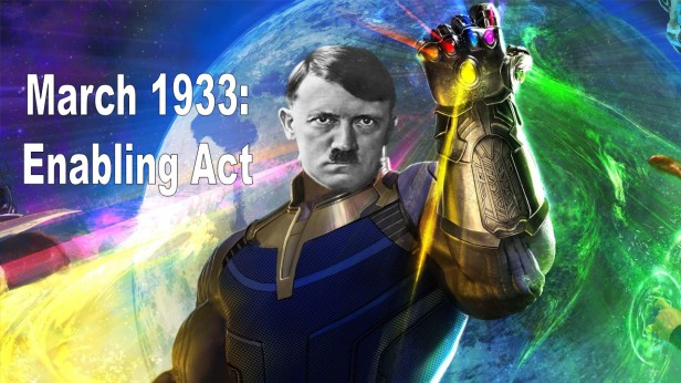 Hitler with Gauntlet (Enabling Act)