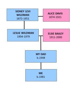 Family Tree - Me to Sidney