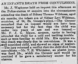 Sidney's son death inquest (Sidney Thomas)